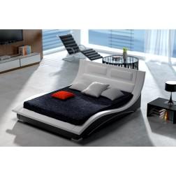 Łóżko tapicerowane S2 160 cm - skóra, stelaż GRATIS !!!