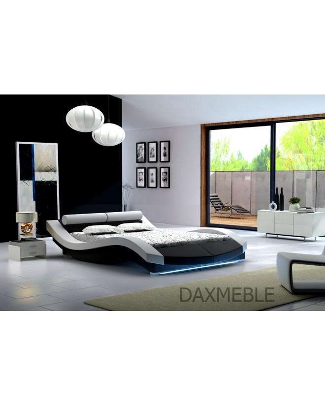 Łóżko tapicerowane S10 160 cm - skóra, stelaż GRATIS !!!
