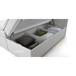 Łóżko kontynentalne ROXI z pojemnikami i 3 materacami
