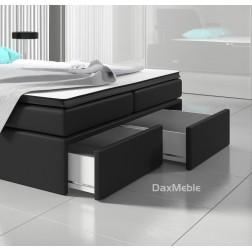 Łóżko kontynentalne DORMIO z pojemnikami 3 materacami i LED