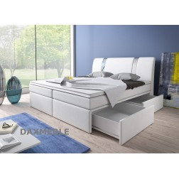 Łóżko kontynentalne RIVA z pojemnikami i 3 materacami