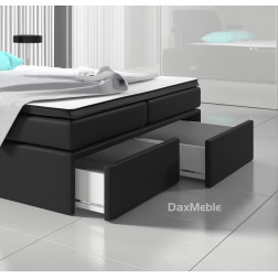 Łóżko kontynentalne STILO z pojemnikami 3 materacami i LED