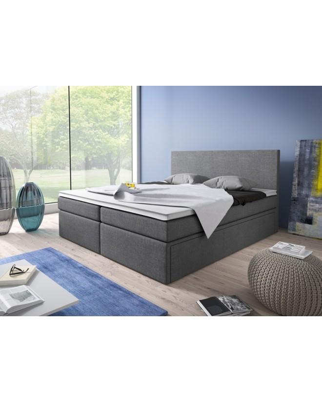 Łóżko kontynentalne SIMPLE z pojemnikami i 3 materacami