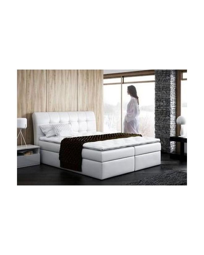 Łóżko kontynentalne ALEKS z  pojemnikami i  materacami