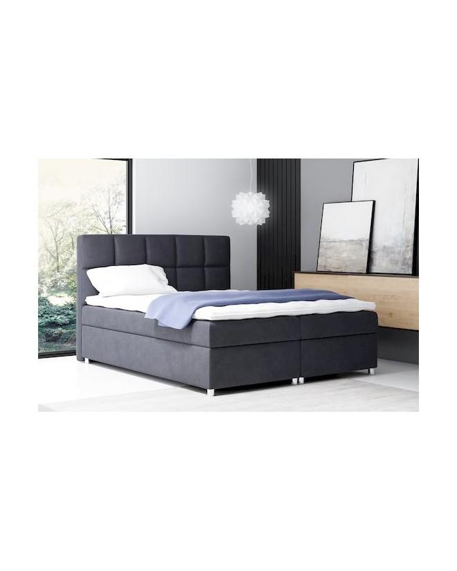 Łóżko kontynentalne COMO z  pojemnikami i 3 materacami