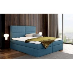 Łóżko kontynentalne GRANA z  pojemnikami i 3 materacami