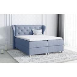 Łóżko kontynentalne ARTI z  pojemnikami i 3 materacami