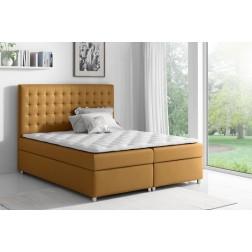 Łóżko kontynentalne LIVIO z  pojemnikami i 3 materacami