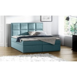 Łóżko kontynentalne MERIDO z  pojemnikami i 3 materacami