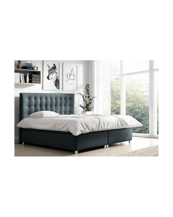 Łóżko kontynentalne MIKEL z  pojemnikami i 3 materacami