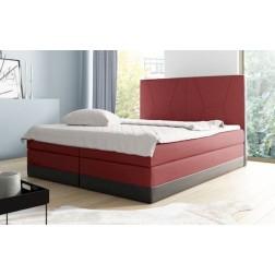 Łóżko kontynentalne MONAKO z  pojemnikami i 3 materacami