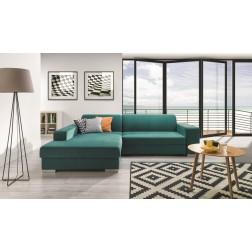 Sofa narożna COMPERA z pojemnikiem i funkcją spania