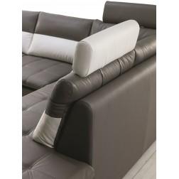Sofa narożna MARCO z funkcją spania i regulacją zagłówków