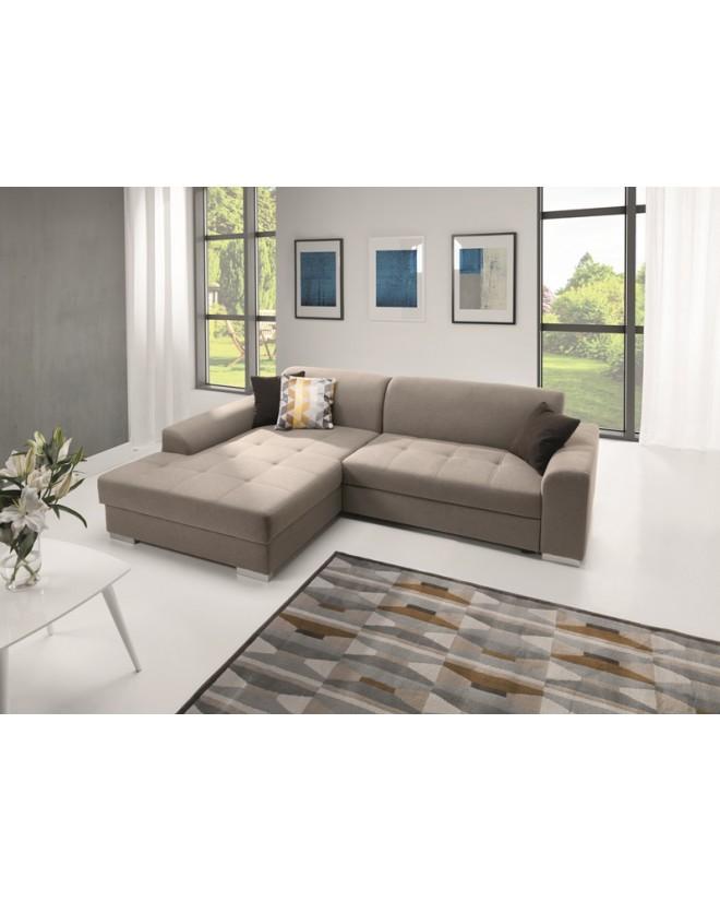 Sofa narożna PELO z funkcją spania i pojemnikiem