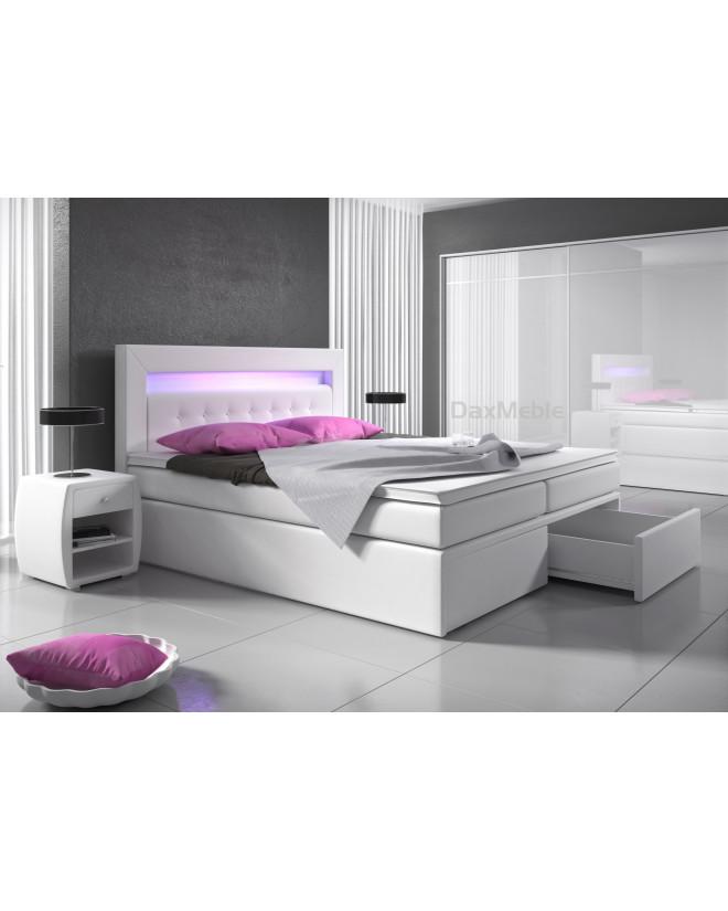 Łóżko kontynentalne MILANO 2 z pojemnikami i 3 materacami